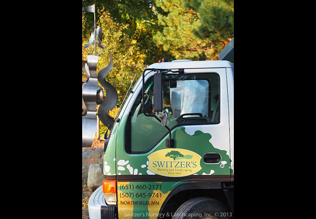 Commercial Truck Branding Graphics Switzers Nursery